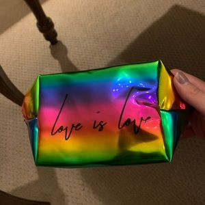 """Other - Cute """"Love is Love"""" Makeup or storage bag!"""